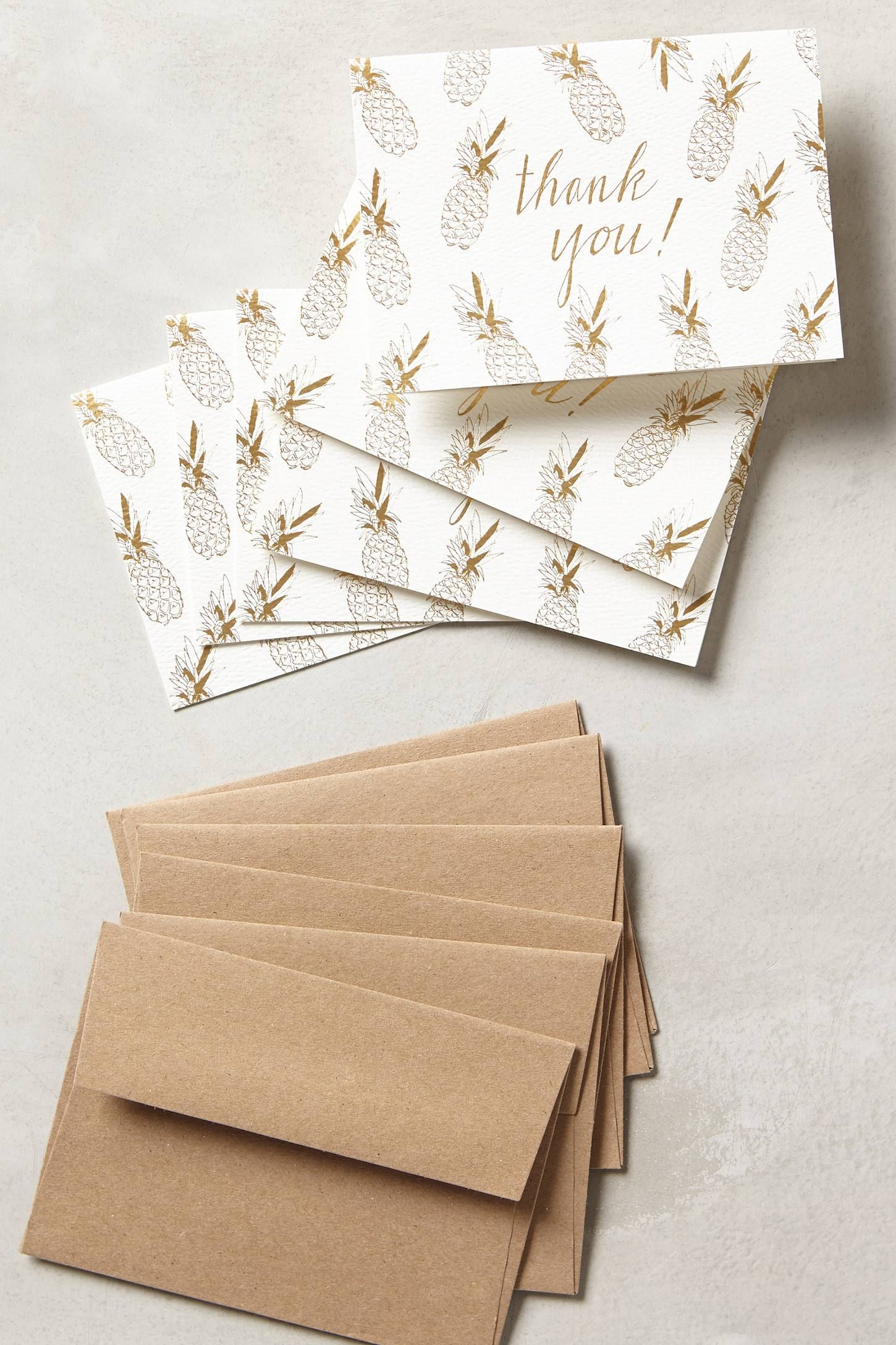"""&lt;p&gt;Hartland Brooklyn Pineapple Thank You Cards, $18; &lt;a href=""""http://www.anthropologie.com/anthro/product/33653882.jsp?cm_vc=SEARCH_RESULTS""""&gt;anythropologie.com&lt;/a&gt;&lt;/p&gt; &lt;p&gt; <!--EndFragment-->&lt;/p&gt;"""