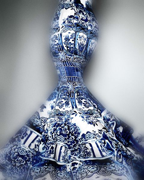 "The dress above is Roberto Cavalli, fall / winter 2005. You can also see pieces by Coco Chanel, Cristobal Balenciaga, Yves Saint Laurent, Alexander McQueen, Karl Lagerfeld, and Rodarte's Mulleavy sisters, often displayed side-by-side with traditional Chinese garments—including some dating back to the 1700s.  ""This exhibition attempts to propose a less politicized and more positivistic examination of Orientalism as a site of infinite and unbridled creativity,"" said the Met in a statement. ""Through careful juxtapositions of Western fashions and Chinese costumes and decorative arts, it presents a rethinking of Orientalism as an appreciative cultural response by the West to its encounters with the East.""  Twitter commenters, what say you?"