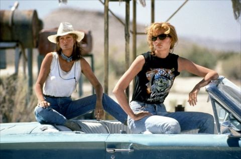 """<strong>THE DUO:</strong> Scorned women Louise, played by Susan Sarandon, and Thelma, played by Geena Davis  <strong>THE BOND:</strong> Girl power. The duo, who go on the lam after taking revenge on a rapist, are connected by their difficult histories and bad experiences with men. They take the friendship to its furthest extreme, proving that you should be in it together until the very end. (Although we don't recommend driving your car off a cliff to prove it.)  <strong>THE BANTER: </strong>""""Louise, no matter what happens, I'm glad I came with you."""""""