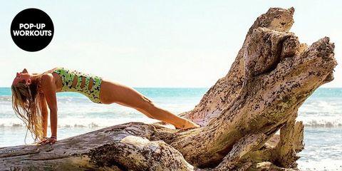 Wood, Human leg, Coastal and oceanic landforms, Summer, Rock, Ocean, Trunk, Calf, Thigh, Beach,
