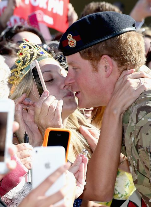 This Australian Superfan Tricked Prince Harry Into a Kiss