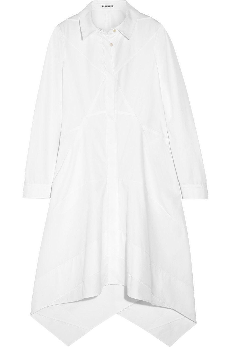 """Jil Sander Cotton-Poplin Shirt Dress, $1,750&#x3B; <a href=""""http://www.net-a-porter.com/us/en/product/500688"""">net-a-porter.com</a> <!--EndFragment-->"""
