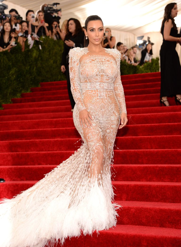 Kim Kardashian Wore a Sheer, Icicle of a Naked Dress to the Met Gala