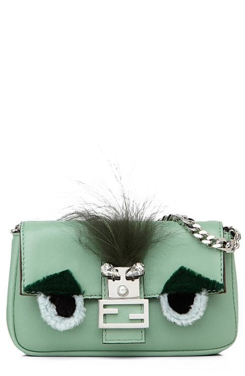 "Fendi Micro Monster Leather, Genuine Fox Fur and Genuine Mink Fur Baguette, $1,400; <a href=""http://shop.nordstrom.com/s/fendi-micro-monster-leather-genuine-fox-fur-genuine-mink-fur-baguette-extra-small/3953060?cm_cat=partner&amp;cm_ite=1&amp;cm_pla=10&amp;cm_ven=Linkshare&amp;siteId=J84DHJLQkR4-6SkcI05uIJg56OyolKicSQ"">nordstrom.com</a>   <!--EndFragment-->"