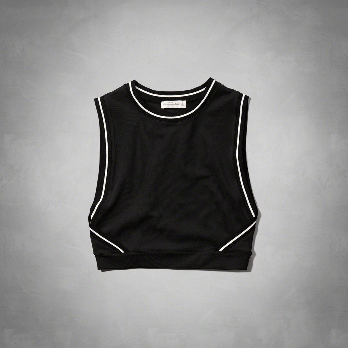 """Abercrombie Cropped Sporty Tank, $25; &lt;a href=""""http://www.abercrombie.com/shop/us/womens-sport-to-street/cropped-sporty-tank-4153573_01?ofp=true""""&gt;abercrombie.com&lt;/a&gt;   <!--EndFragment-->"""