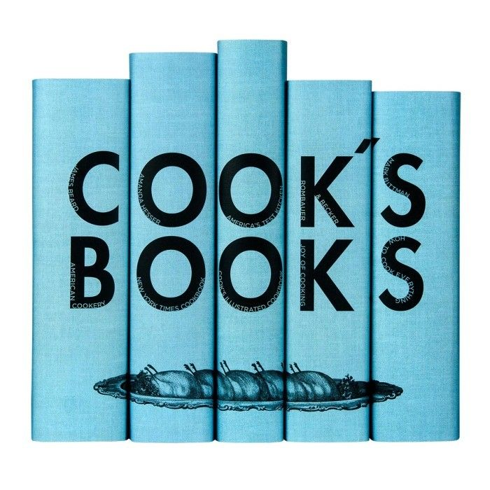 """Now that they've got a closet full of china, give them a reason to use it with this custom-jacketed set of five classic American cookbooks, including <em>The Joy of Cooking</em> and Mark Bittman's <em>How to Cook Everything</em>.   Cook's Books Set, $250; <a target=""""_blank"""" href=""""http://juniperbooks.com/store/cooks-book-set/"""">juniperbooks.com</a>"""