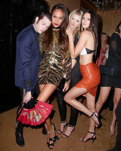 Peter Brant Jr., Joan Smalls, Lily Donaldson, Kendall Jenner