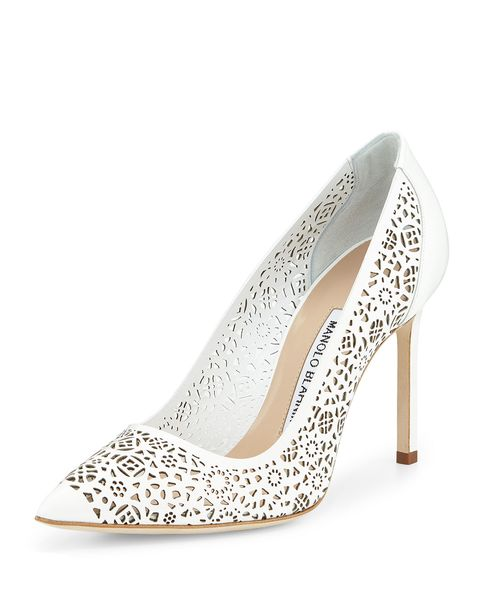 "Manolo Blahnik BB Laser-Cut Leather Pump, $795; <a href=""http://www.bergdorfgoodman.com/Manolo-Blahnik-BB-Laser-Cut-Leather-Pump-White/prod106590192_cat379623__/p.prod?icid=&amp;searchType=EndecaDrivenCat&amp;rte=%2Fcategory.service%3FitemId%3Dcat379623%26pageSize%3D120%26No%3D0%26Ns%3DPCS_SORT%26refinements%3D718%2C&amp;e"">bergdorfgoodman.com</a>   <!--EndFragment-->"