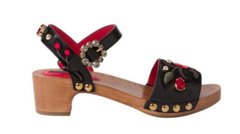 """<p>Dolce & Gabana Floral Clog Sandal, $945; <a href=""""http://shop.harpersbazaar.com/designers/dolce-gabbana/floral-clog-sandal/"""">shopbazaar.com</a></p>"""