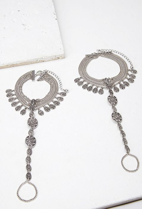 "Forever 21 Etched Foot Chain Set, $9&#x3B; <a target=""_blank"" href=""http://www.forever21.com/Product/Product.aspx?br=F21&amp&#x3B;category=ACC&amp&#x3B;productid=1000096251"">forever21.com</a>