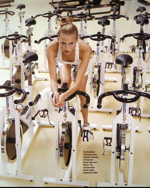 Exercise machine, Bicycle fork, Stationary bicycle, Balance, Bicycle handlebar, Physical fitness, Bicycle saddle,