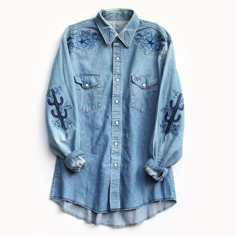 "Bliss and Mischief Face of the Desert Denim Shirt, $638; <a href=""http://www.blissandmischief.com/faceofthedesert/face-of-the-desert-shirt"">blissandmischief.com</a>   <!--EndFragment-->"