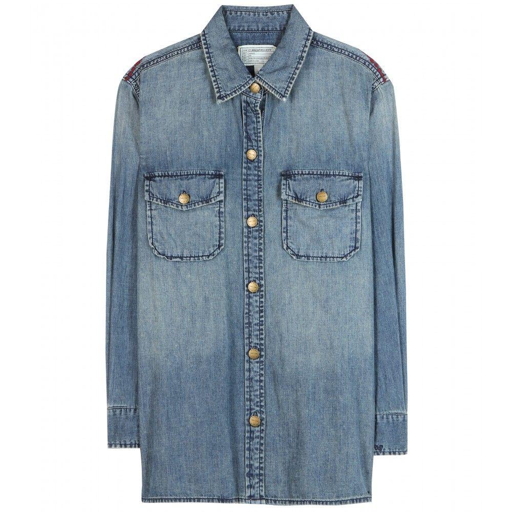 "Current/Elliott The Perfect Denim Shirt, $342&#x3B; <a href=""http://www.mytheresa.com/en-us/the-perfect-denim-shirt-343790.html"">mytheresa.com</a> <!--EndFragment-->"