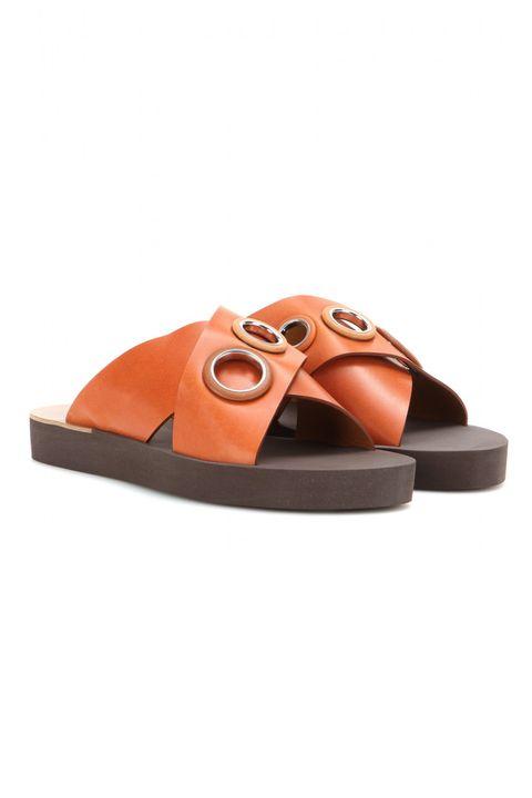 "Chloé Embellished Leather Sandals, $460; <a href=""http://www.mytheresa.com/en-us/embellished-leather-sandals-413755.html"" target=""_blank"">mytheresa.com</a>"