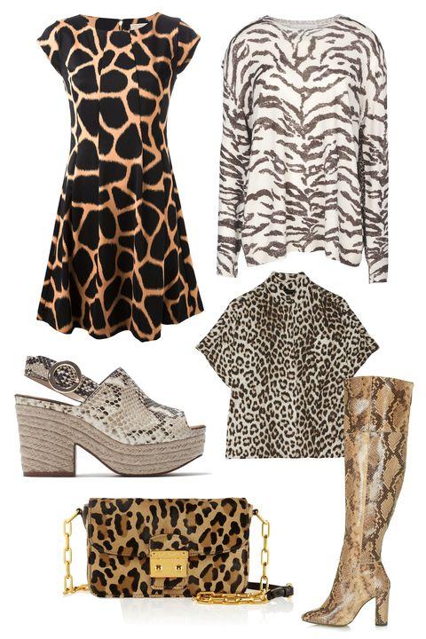 "Michael Michael Kors Giraffe Print Dress, $179; <a href=""http://www.farfetch.com/shopping/item10912815.aspx"">farfetch.com</a>  Stella McCartney Crew Neck Jumper, $1,140; <a href=""http://www.stellamccartney.com/us/stella-mccartney/sweater_cod39483327dh.html"">stellamccartney.com</a>  Zara Leather Print Wedges, $120; <a href=""http://www.zara.com/us/en/woman/shoes/leather-printed-wedge-c358009p2542619.html"">zara.com</a>  Rag &amp; Bone Saunders Leopard-Print Shirt, $395; <a href=""http://www.net-a-porter.com/product/493832/Rag_and_bone/saunders-leopard-print-silk-charmeuse-shirt"">net-a-porter.com</a>  Miu Miu Bandoliera Leopard-Print Calf hair Shoulder Bag, $1,700; <a href=""http://www.net-a-porter.com/product/414918/Miu_Miu/bandoliera-leopard-print-calf-hair-shoulder-bag"">net-a-porter.com</a>  Topshop Collide High Leg Snake Boots, $280; <a href=""http://us.topshop.com/webapp/wcs/stores/servlet/ProductDisplay?searchTerm=snake&amp;storeId=13052&amp;productId=17404618&amp;urlRequestType=Base&amp;categoryId=&amp;langId=-1&amp;productIdentifier=product&amp;catalogId=33060"">topshop.com</a>   <!--EndFragment-->"