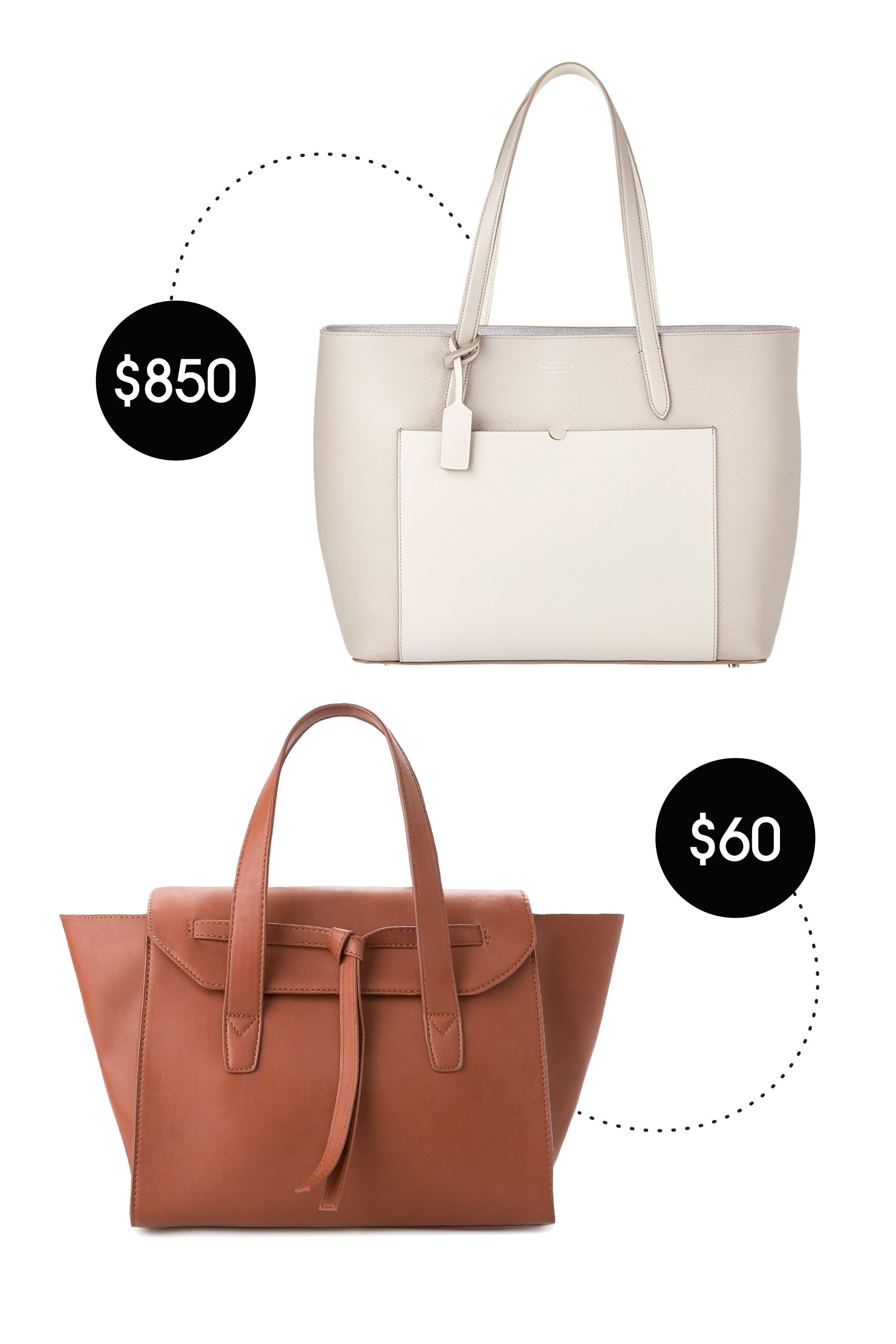 "&lt;p&gt;Smythson Panama Tote, $850; &lt;a href=""http://www.barneys.com/smythson-panama-tote-503859490.html#start=49&amp;amp;sz=48&amp;amp;srule=price-low-to-high""&gt;barneys.com&lt;/a&gt;&lt;/p&gt; &lt;p&gt;Mango Big Knot Bag, $60; &lt;a href=""http://shop.mango.com/US/p0/women/accessories/bags/big-knot-bag/?id=43080351_CU&amp;amp;n=1&amp;amp;s=accesorios.bolsos&amp;amp;ident=0__0_1431654680410&amp;amp;ts=1431654680410""&gt;mango.com&lt;/a&gt;&lt;/p&gt; &lt;p&gt; <!--EndFragment-->&lt;/p&gt;"