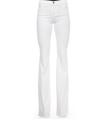 "Frame Forever Karlie Flared Denim Jeans, $219; <a href=""http://www.bergdorfgoodman.com/FRAME-Forever-Karlie-Flared-Denim-Jeans/prod107430032/p.prod"">bergdorfgoodman.com</a>"