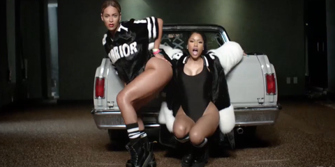 cab8489335e New Squad Goals  Every Scene From Nicki Minaj and Beyoncé s New ...