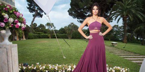 Clothing, Shoulder, Dress, Pink, Formal wear, Petal, Style, Magenta, Gown, Purple,