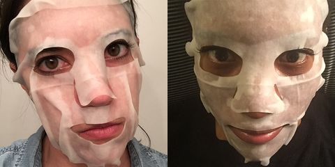 """<em>3 Lab Perfect Mask, $140; <a target=""""_blank"""" href=""""http://www.3lab.com/collections/treatment/products/perfect-mask"""">3lab.com</a></em>  <strong>Sally</strong>: This was more wet than producty. It didn't really fit my face because it was too tall at the top, but I also had to move it up higher to reach my under eyes (a <em>key</em> spot!). Possibly gave me a zit! <strong>3/10</strong>  <strong>Danielle</strong>: This mask was okay. I wasn't wowed by it, but I didn't hate it either. But is there anything worse than being mediocre? No! I think I have to use it again to be sure, but I sort of felt nothing, like when a guy that looks meh compliments you. It feels okay, but not as good as it could. <strong>5/10</strong>   <!--EndFragment-->"""