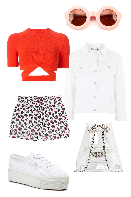 "Anna Sui Deco Fan Printed Shorts, $265; &lt;a target=""_blank"" href=""http://rstyle.me/n/2dvurbc6jf""&gt;stylebop.com&lt;/a&gt;  Erin Dana Nervo Lucite Backpack, $158; &lt;a target=""_blank"" href=""http://boutique.erindana.com/collections/nervo""&gt;erindana.com&lt;/a&gt;  T by Alexander Wang Crisscross Strap Top, $534; &lt;a target=""_blank"" href=""http://rstyle.me/n/2dvwmbc6jf""&gt;farfetch.com&lt;/a&gt;  Superga Platform Lace Up Sneakers, $80; &lt;a target=""_blank"" href=""http://rstyle.me/n/2dvytbc6jf""&gt;bloomingdales.com&lt;/a&gt;  Wildfox Twiggy Round Plastic Sunglasses, $80; &lt;a target=""_blank"" href=""http://rstyle.me/n/2dv2ibc6jf""&gt;nordstromrack.com&lt;/a&gt;  Moto White Western Denim Jacket, $75; &lt;a target=""_blank"" href=""http://rstyle.me/n/2dv3mbc6jf""&gt;topshop.com&lt;/a&gt;   <!--EndFragment-->"