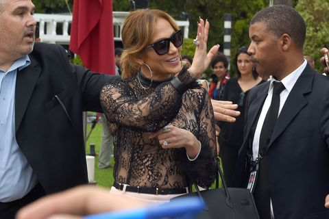 Jennifer Lopez Wore $25 Culottes on the Red Carpet