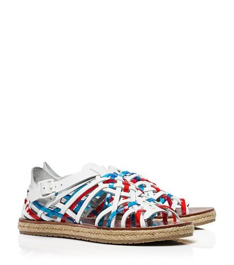 "<p>Tory Burch Huarache Flat Espadrille Sandal, $295; <a href=""http://www.toryburch.com/huarache-flat-espadrille-sandal/21158567.html?start=6&cgid=shoes-espadrilles&dwvar_21158567_color=161"">toryburch.com</a></p>"