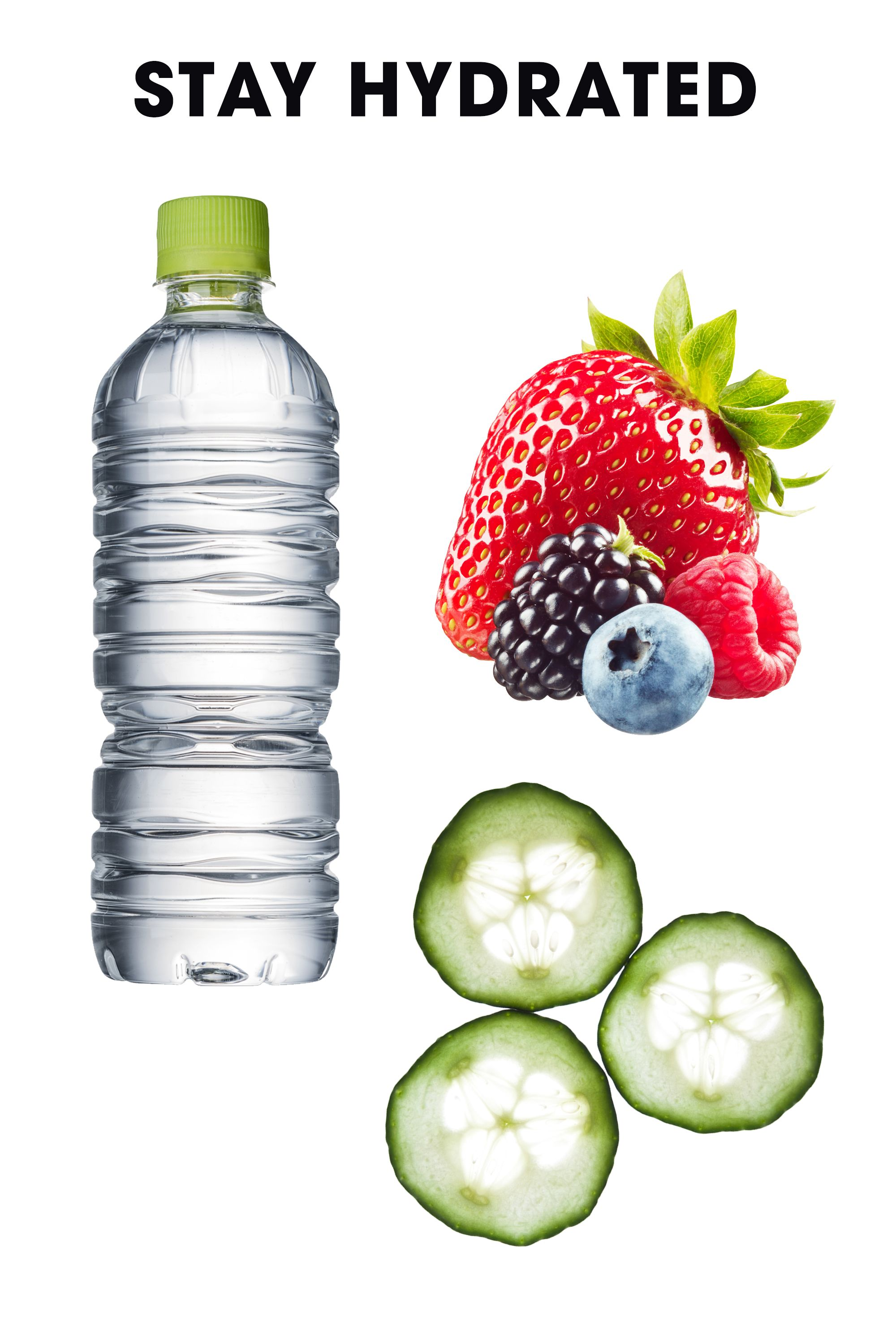 Important fact: Sunburns are dehydrating. Keep fluid levels high—not just with water, but also with H2O-packed foods like fruits and veggies.