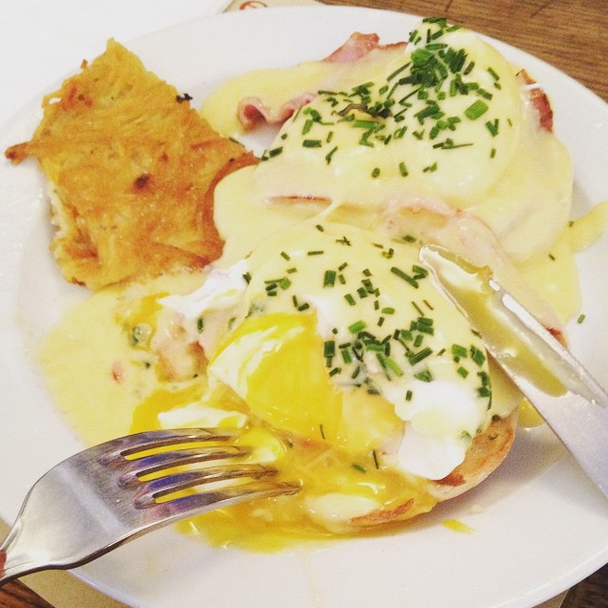 """""""This is a really great American coffee shop,"""" Kruger says of her <a target=""""_blank"""" href=""""http://www.coffee-parisien.fr/"""">go-to diner</a>. """"And I know, Why would you want to go somewhere that serves American food in Paris? But it's got great Eggs Benedict."""""""