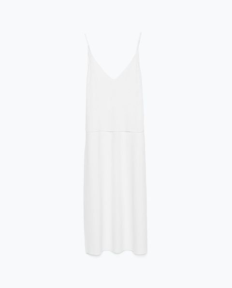 "Zara Long Double Layer Dress, $50; <a href=""http://www.zara.com/us/en/woman/dresses/view-all/long-double-layer-dress-c719020p2705515.html"">zara.com</a>   <!--EndFragment-->"