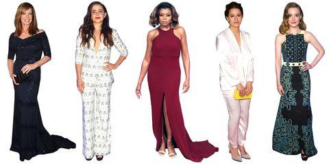 Clothing, Leg, Sleeve, Shoulder, Standing, Joint, Formal wear, Style, Dress, Waist,