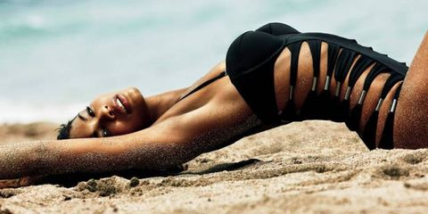 Skin, Human leg, Summer, Beauty, Sun tanning, Tan, Sand, Photography, Brassiere, Model,