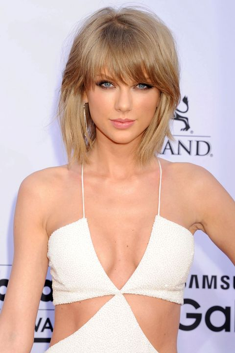 "Tons of volume, side-swept bangs, choppy ends; what's not to love about Taylor Swift's new look? If you're thinking about making the cut, invest in a diffuser attachment for your blow dryer and a volumizing foam. <em>Try: <a target=""_blank"" href=""http://www.garnierusa.com/products/styling/full-and-plush/spray-mousse/full-and-plush-root-amp-root-lifting-spray-mousse.aspx"">Garnier Fructis Full &amp; Plush Root Amp Root Lifting Spray Mousse</a> ($4.29 MSRP)</em>"