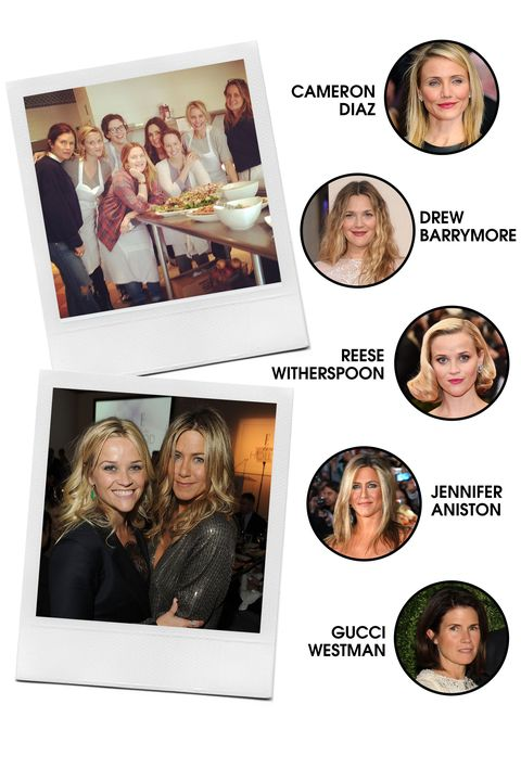 Cameron Diaz is kind of like the Taylor Swift of A-list actresses—her friend net is <em>wide</em>, yo. BFF-in-charge goes to Drew Barrymore, and they also frequently pal around with Reese Witherspoon, Jennifer Aniston, and the group's resident makeup artist, Gucci Westman.  <strong>All-Around Vibe: </strong>Like walking rom-coms, these ladies are feel-good and goofy.  <strong>Preferred PDA: </strong>Girls' getaways in Napa, beach hangs, and awards show selfies.  <strong>Signature Look: </strong>Glam on the red carpet, makeup-free and low-key otherwise.  <strong>Fringe Members: </strong>Gwyneth Paltrow, Nicole Richie, Chelsea Handler, Lake Bell