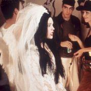 Hair, Drink, Hat, Black hair, Fashion accessory, Headgear, Fashion, Hair accessory, Party, Alcoholic beverage,