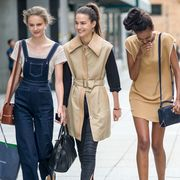 Clothing, Bag, Shoulder, Outerwear, Fashion accessory, Luggage and bags, Style, Street fashion, Waist, Fashion,
