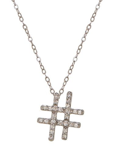 """<p>Lord &amp; Taylor 14k White Gold Diamond Hashtag Necklace, $210; <a target=""""_blank"""" href=""""http://www.lordandtaylor.com/webapp/wcs/stores/servlet/en/lord-and-taylor/14k-white-gold-diamond-hashtag-necklace"""">lordandtaylor.com</a></p>"""