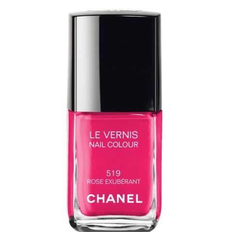 """Chanel Nail Color in Rose Exuberant, $27&#x3B; <a target=""""_blank"""" href=""""http://www.chanel.com/en_US/fragrance-beauty/Makeup-Nails-LE-VERNIS-89314"""">chanel.com</a>"""