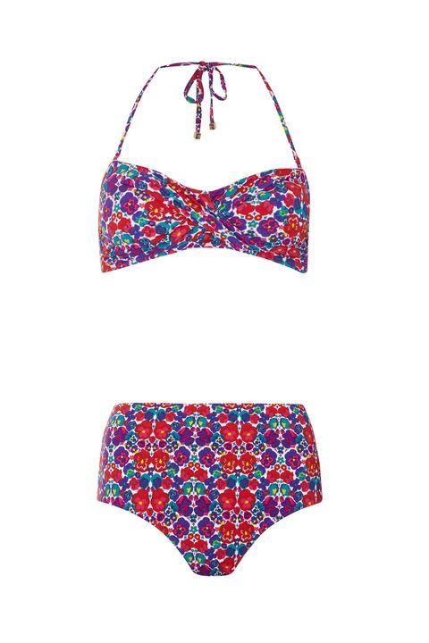 5fbf301dca34e Dorothy Perkins Floral Bandeau Bikini Top, $25; dorothyperkins.com Dorothy  Perkins Floral Highwaist Bikini Bottoms, $21; dorothyperkins.com