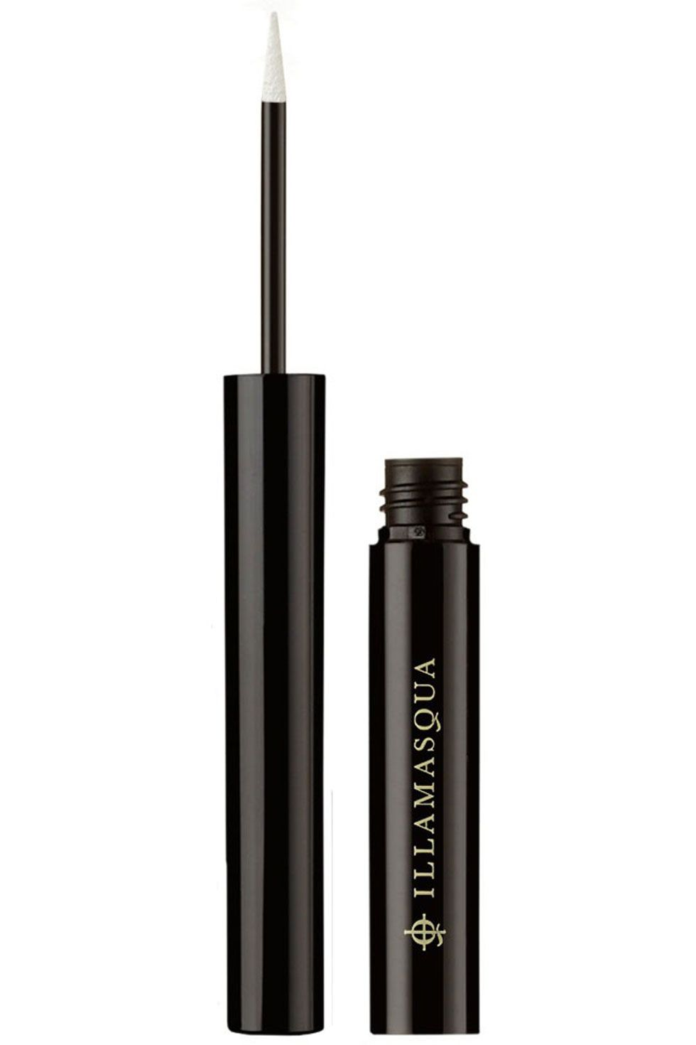 "Illamasqua Precision Ink in Scribe Pure White, $28; <a target=""_blank"" href=""http://www.illamasqua.com/shop/eyes/eye-liners/scribe-precision-ink/"">illamasqua.com</a>"