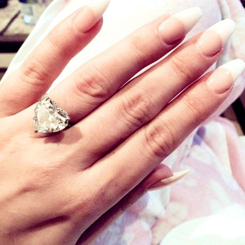 Mother Monster makes the often-maligned French manicure feel new with extreme oval white tips.