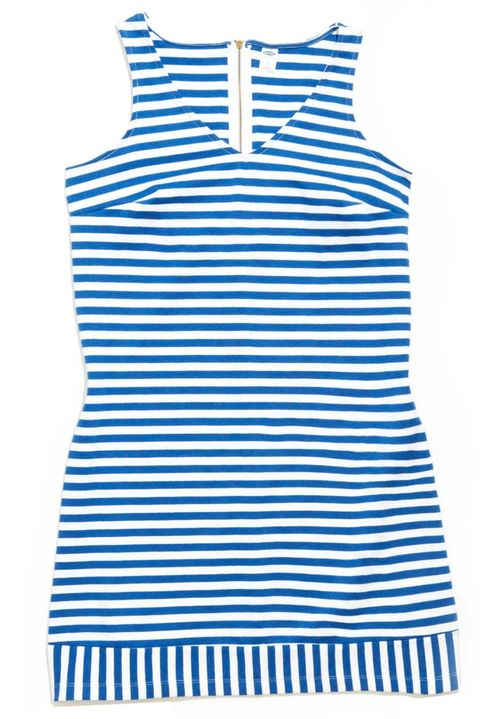 "Women's Striped Ponte-Knit Shift Dress, $18; <a target=""_blank"" href=""http://oldnavy.gap.com/browse/product.do?vid=3&amp;pid=344579002"">oldnavy.com</a>"
