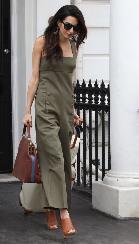 Who: Amal Clooney  When: June 25, 2015  Why: This Sonia Rykiel jumpsuit is on-trend with the season's military-inspired runways. It's also a continuation of Amal's flawless airport style. Seriously not fair.
