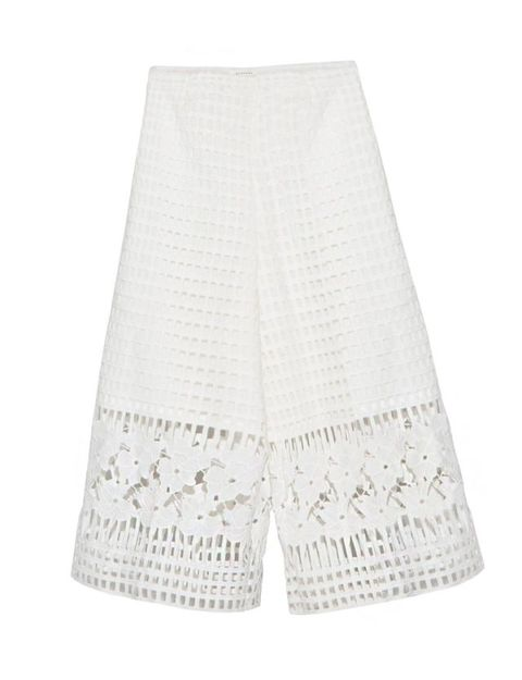 "Pixie Market Crochet Crop Culottes, $99; <a href=""http://www.pixiemarket.com/crochet-crop-culottes-pants.html"">pixiemarket.com</a>"