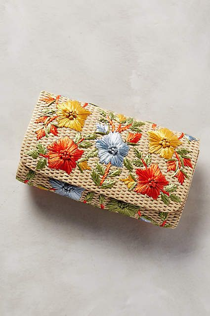 """Garden Route Clutch, $45; <a href=""""http://www.anthropologie.com/anthro/product/accessories-clutches/35510502.jsp#/"""">anthropologie.com</a>"""