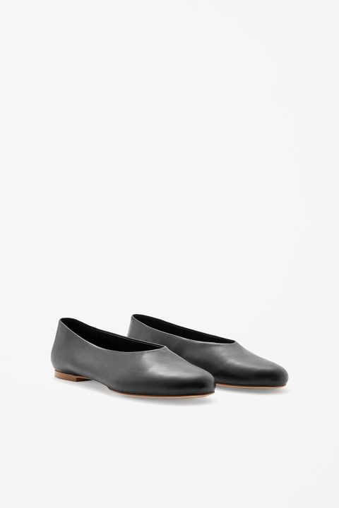 "<p>Cos Slip-On Leather Shoes, $125; <a href=""http://www.cosstores.com/us/Women/Shoes/Slip-on_leather_shoes/46897-17661134.1#17661140"">cosstores.com</a></p>"