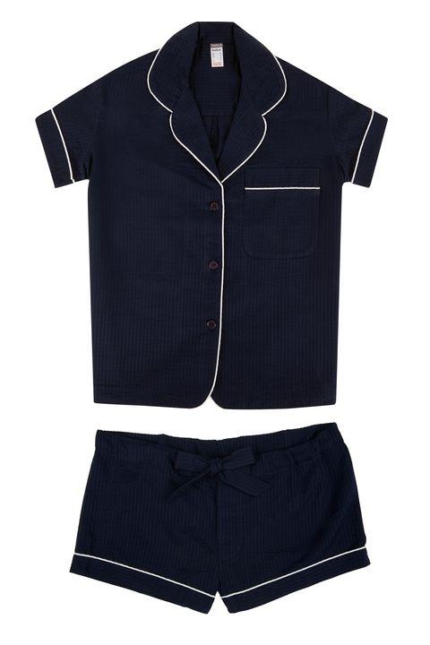 "Bodas Seersucker Short Sleeve Pyjama Shirt, $67; <a href=""http://www.bodas.co.uk/nightwear-tops/seersucker-short-slv-pyjama-shirt_ct266pd409.htm"">bodas.co.uk</a>  Bodas Seersucker Pyjama Short, $42; <a href=""http://www.bodas.co.uk/nightwear-bottoms/seersucker-pyjama-shorts_ct267pd408.htm"">bodas.co.uk</a>"