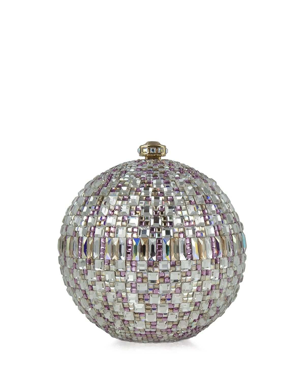"Judith Leiber Couture New Sphere Crystal Minaudiere, $3,995; <a href=""http://www.neimanmarcus.com/Judith-Leiber-Couture-New-Sphere-Crystal-Minaudiere-Multicolor-Clutches/prod164960189_cat13410735__/p.prod?icid=&searchType=EndecaDrivenCat&rte=%2Fcategory.jsp%3FitemId%3Dcat13410735%26pageSize%3D117%26No%3D0%26refinements%3D&eItemId=prod164960189&cmCat=product"">neimanmarcus.com</a>"