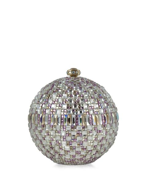 """Judith Leiber Couture New Sphere Crystal Minaudiere, $3,995; <a href=""""http://www.neimanmarcus.com/Judith-Leiber-Couture-New-Sphere-Crystal-Minaudiere-Multicolor-Clutches/prod164960189_cat13410735__/p.prod?icid=&amp;searchType=EndecaDrivenCat&amp;rte=%2Fcategory.jsp%3FitemId%3Dcat13410735%26pageSize%3D117%26No%3D0%26refinements%3D&amp;eItemId=prod164960189&amp;cmCat=product"""">neimanmarcus.com</a>"""