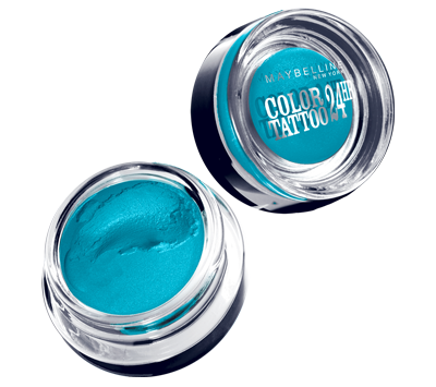 """The new (super-easy) statement eye for summer: a sweep of bright turquoise along the lower lash line. Makeup artist Grace Lee promises that even a Day-Glo blue works """"on every skin tone and eye color."""" She used an angled brush to blend <a target=""""_blank"""" href=""""http://www.maybelline.com/Products/Eye-Makeup/Eye-Shadow/eye-studio-color-tattoo-24hr-cream-gel-shadow.aspx"""">Maybelline Color Tattoo gel shadow</a> in Tenacious Teal (another ELLE favorite is <a target=""""_blank"""" href=""""http://www.sephora.com/colorful-eyeshadow-shimmer-P377296"""">Sephora's Summer Cruise</a>), then kept """"the rest of the face soft and natural."""""""